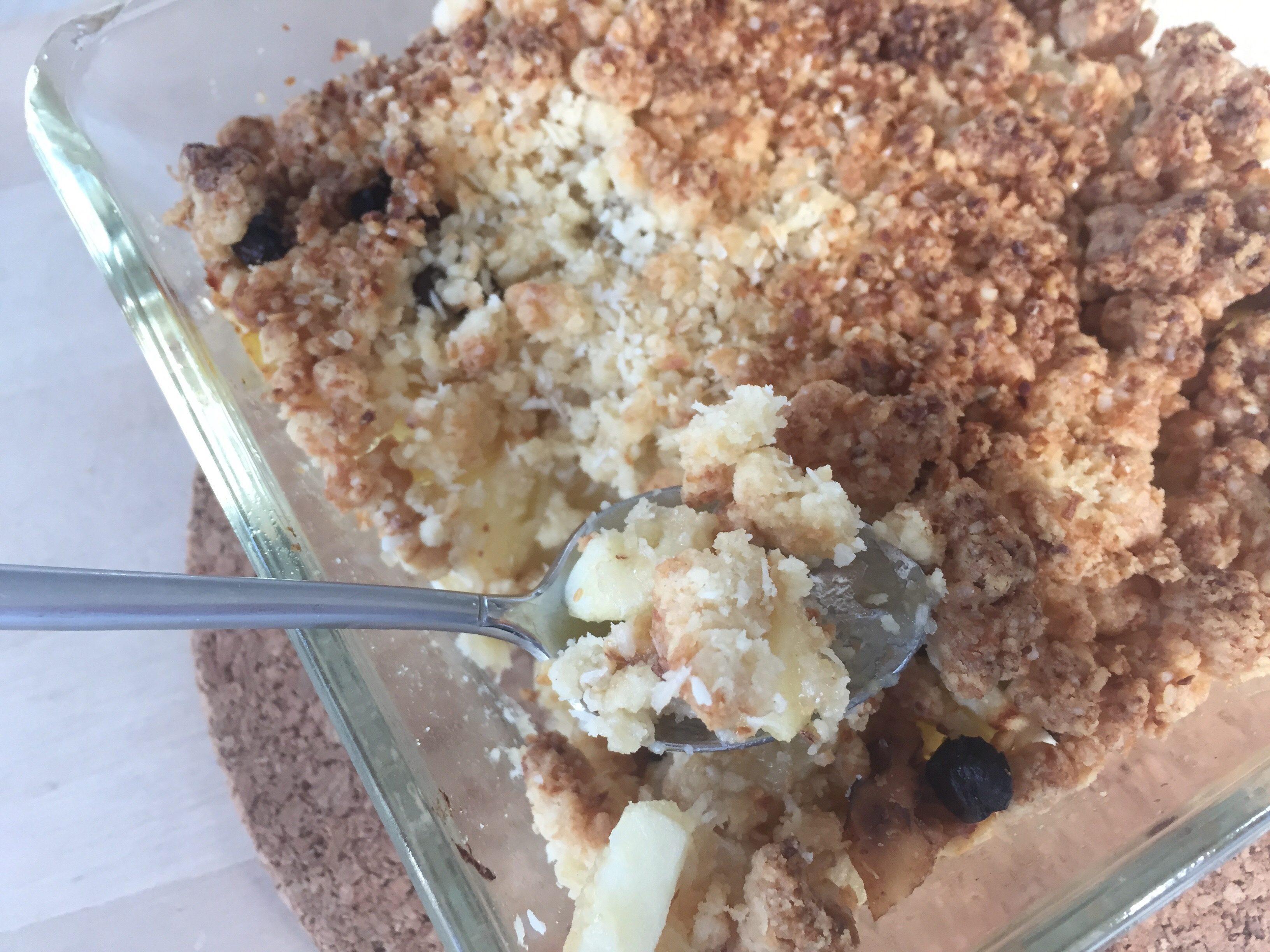 appel banaan crumble airfryer