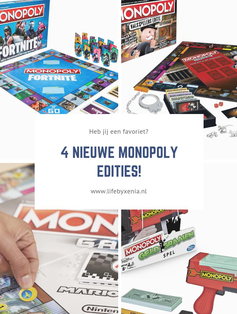 4 NIEUWE MONOPOLY EDITIES!