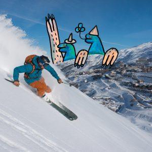 Skien in Les Menuires
