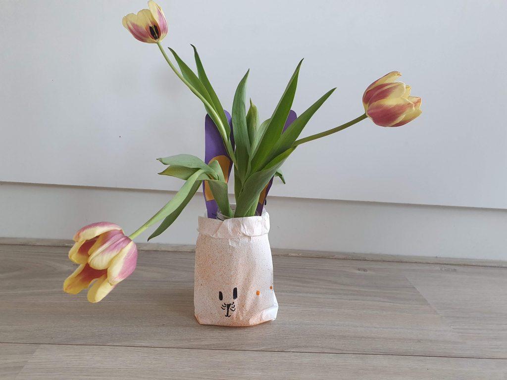 bloemen in zak