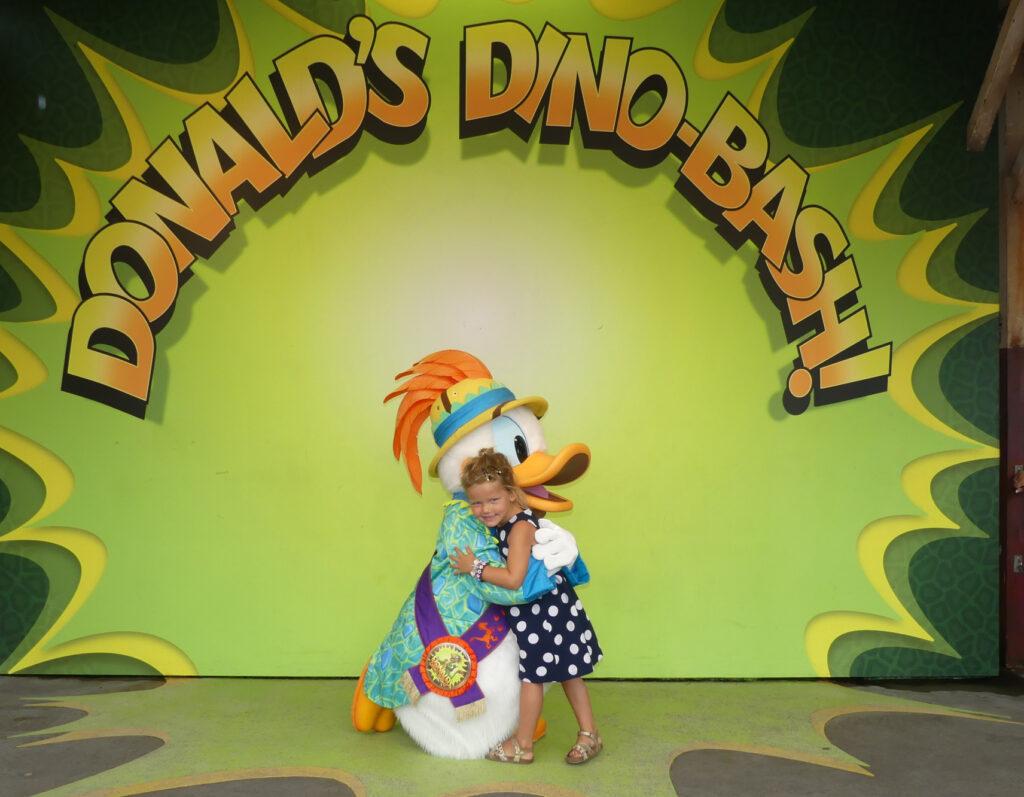 Ontmoeting Donald Duck Disney World Orlando