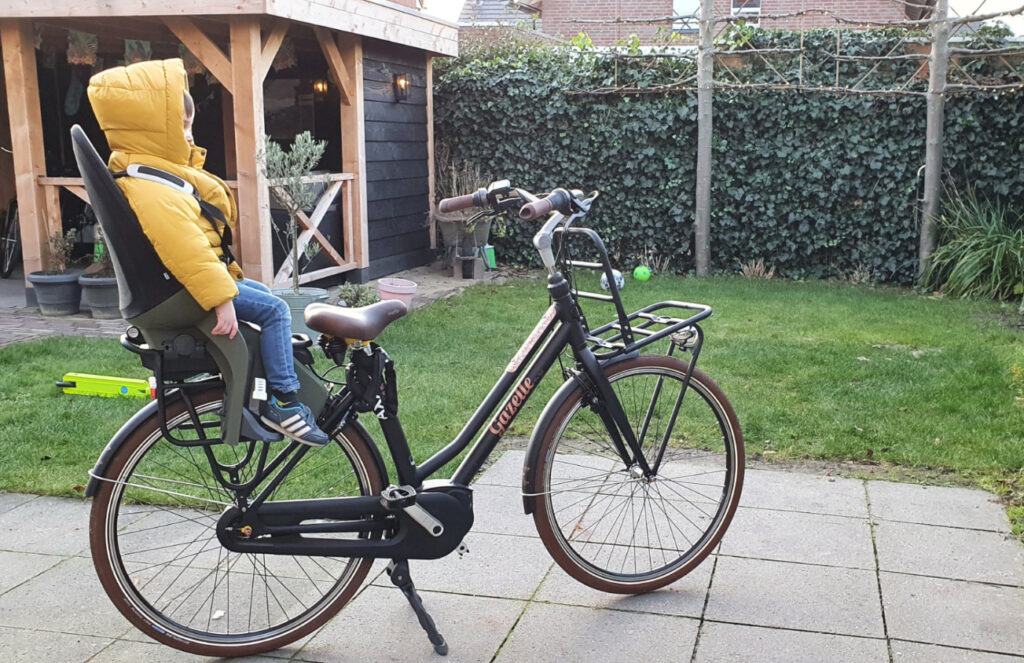 Qibbel Air fietsstoeltje heerlijke zit