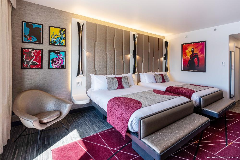 Kamers in het Disneys Hotel New York art of Marvel