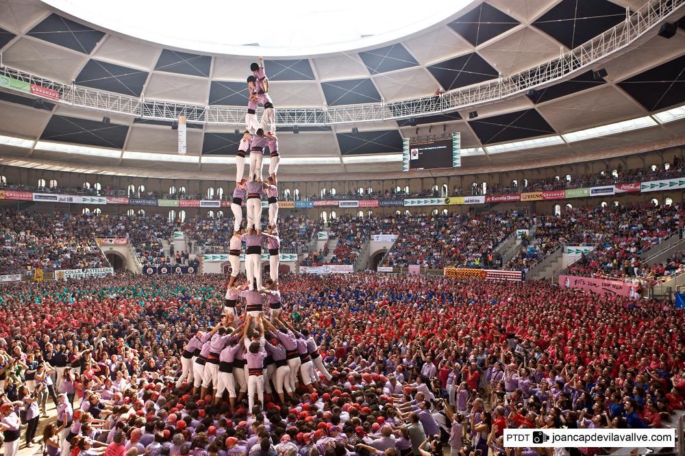 Concurs de Castells menselijke piramides